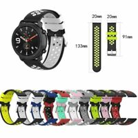 Silicone Watch Band Wrist Strap Bracelet 20mm for Garmin Venu Samsung Amazfit