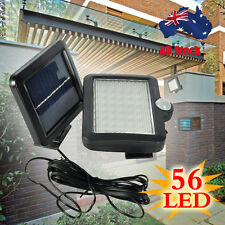 56 LED Motion Sensor Solar Powered Flood Light Outdoor Garden Security Spot Lamp
