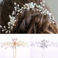 Gorgeous Wedding Bridal Hair Accessories Pearl Flower Hair Pin Hair Stick Beauty