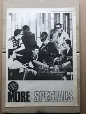 SPECIALS MORE SPECIALS POSTER SIZED original SKA/TWO TONE music press advert fro