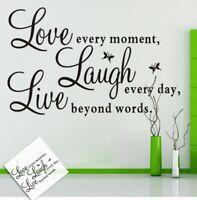 Love Laugh Live Wandsticker Wandtattoo Sprüche Zitat Aufkleber Wandaufkleber