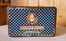 Alte Blechdose * WALDORF-ASTORIA * Blau Punkt 25 Cigaretten * old cigarette tin