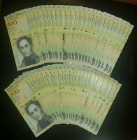 VENEZUELA BOLIVARES50 X 100000 (100,000) P-NEW UNC LOT 50 PCS Total