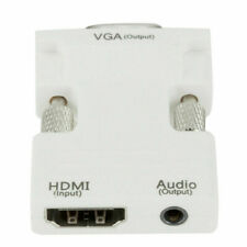 HDMI Female To VGA Male Converter Adapter 1080P Stereo Audio input for PC Laptop