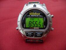 Vintage Rare Timex Ironman Triathlon Digital 100m 8 Lap Watch Metal Band RUNS GR