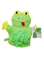 Frog Bath Mitt Loofah Froggy Froggie Collection Kermit Terry Cloth New
