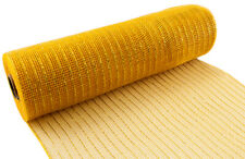 Deco Mesh Metallic Glitter Gold 10 Yards Eleganza 25cm