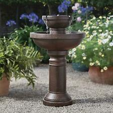 Convenient Outdoor Garden CORDLESS (Rechargeable Battery) Tiered Water Fountain