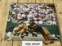 Fred Dryer Autographed/Signed 8x10 Photo TRISTAR  Rams Los Angeles LA