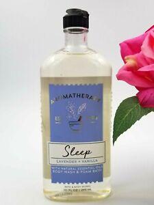 Bath and Body works SLEEP Lavender Vanilla Aromatherapy Body Wash Foam Bath 10oz