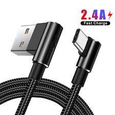 USB cargador de carga rápida de tipo C C 90 ° Cable de Datos para Samsung Huawei Samsung S10