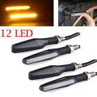 4X Amber Motorcycle Turn Signal LED Indicator Light Blinker Lamp Universal Black