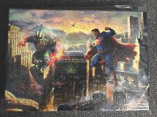 "Thomas Kinkade Dc Superman Man of Steel Art 10 x 14 x 1.5"" Gallery Wrap Canvas"