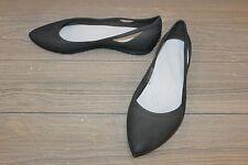 **Crocs Women's Rio Flat, Black/Platinum - Size 9