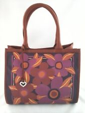 Brighton Purse Celebrates Vera Tropics Summer Flowers Tote Handbag Purple $330