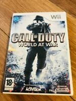 Jeu nintendo wii  wii u Call of Duty 5 : World at War en bon etat avec boitier
