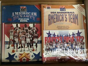1992 USA Basketball Olympic Dream Team Poster Book Lot Of 2 Books New in Wrapper