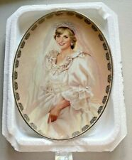 """Bradford Diana """"The Peoples Princess"""" Queen of Our Hearts Plate #5025 C"""