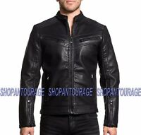 AFFLICTION Breaking The Law 110OW295 New Men`s Long Sleeve Black Moto Jacket