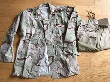 US Army Uniform Shirt And Trouser Camo  Desert New With Patches