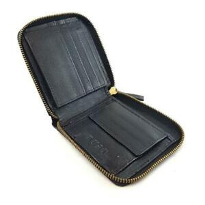 Cruise - Black Cowhide Leather 3Fold Zippered Wallet