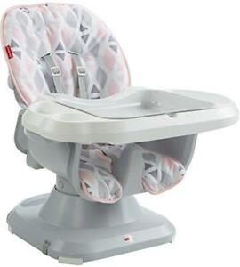 Fisher-Price SpaceSaver High Chair, Pink