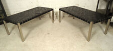 Vintage Chrome & Leather Bench (05305)NS