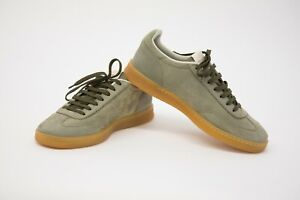 NWOB Brunello Cucinelli Men's Leather Suede Logo Detail Sneakers 42/ 8.5US  A211