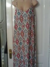 PINK AND WHITE MAXI DRESS BY NEXT SIZE 16