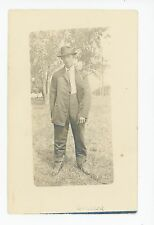 Man in Oversized Suit RPPC Hanford CA Estate—Kings County—Zoot? 1910s