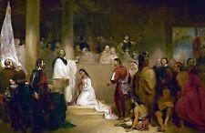 Baptism of Pocahontas-John Gadsby Chapman. . Indians  11x17 Print