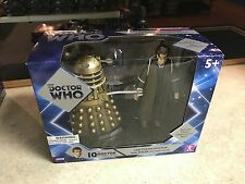 """Doctor Who 10th THE TENTH DOCTOR with DALEK Stolen Earth 5.5""""  Figure 2 Pack MIB"""