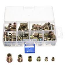 100pcs M4 M5 M6 M8 M10 Threaded Hex Drive Insert Fixing Wood Screw Inserts Nuts
