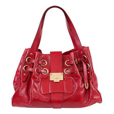 38970 auth JIMMY CHOO red leather RAMONA Shoulder Bag