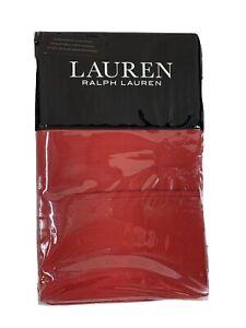 Ralph Lauren Dunham Admiral Red Standard Pillowcases 2 PACK Sateen NWT Colonial