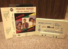FRANCISCO MENESES Amor Amor cassette tape 1990 rare import Latin conjunto family