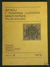 BOOK Polish Folk Costume & Textile Design 19th century fashion European POLAND