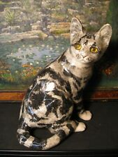 More details for stunning vintage winstanley handpainted glass eyed signed cat size 4