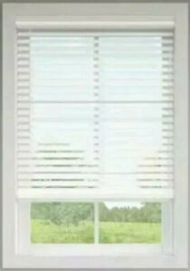 """Allen + Roth Cordless 2"""" Faux Wood Blinds White. Precut to 20 1/2"""" x 42"""" 0924683"""
