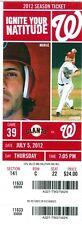 2012 Nationals vs Giants Ticket:  Ian Desmond & Danny Espinosa back-to-back HRs