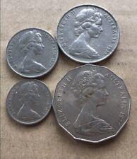⚡1977 Australian 50 Cent, 20 Cent, 10 Cent, 5 Cent Coin Set Of 4 🇦🇺FREE Post💰
