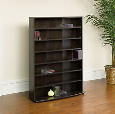 Sauder Multimedia Storage Tower Adjustable Shelf Media Cabinet CD DVD VHS Rack