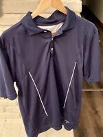 Callaway Golf Mens Polo Shirt Size Medium Navy Blue