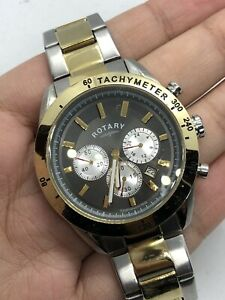Rotary Chronograph President Date Indicator Two-Tone Swiss Men's Watch GB03429