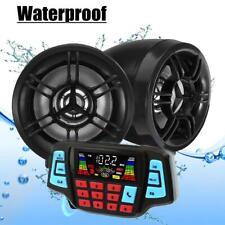New listing Waterproof Usb Bluetooth Motorcycle Audio Fm Radio System Stereo Mp3 Speakers Us
