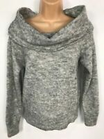 WOMENS H&M DIVIDED GREY KNITTED JUMPER SWEATER PULL OVER SIZE EXTRA SMALL XS