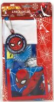 Marvel Spiderman Holiday Christmas 3 Piece Gift Set Ornament Stocking Wallet NEW