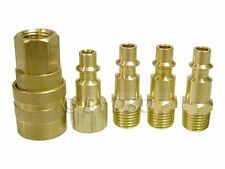 Professional Trade Quality 5 Piece Brass Air Quick Connect Coupler Set