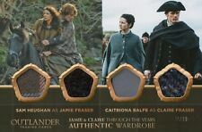 Outlander Season 4, Claire/Jamie Fraser Quad Oversized Wardrobe Card OS04 #41/99