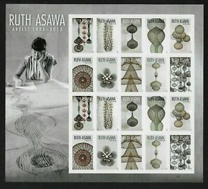 SC #5504-5513 Ruth Asawa (forever) 2020 Issue forever sheet, MNH
